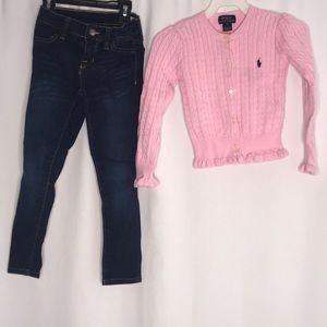 Ralph Lauren Sweater and Jean Jeggings Size 5